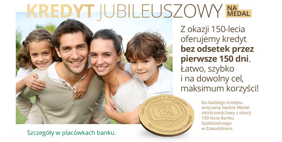 Kredyt jubileuszowy na medal